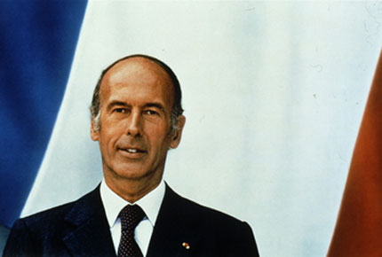 Portrait officiel par Jacques-Henri Lartigues de Valéry Giscard d'Estaing
